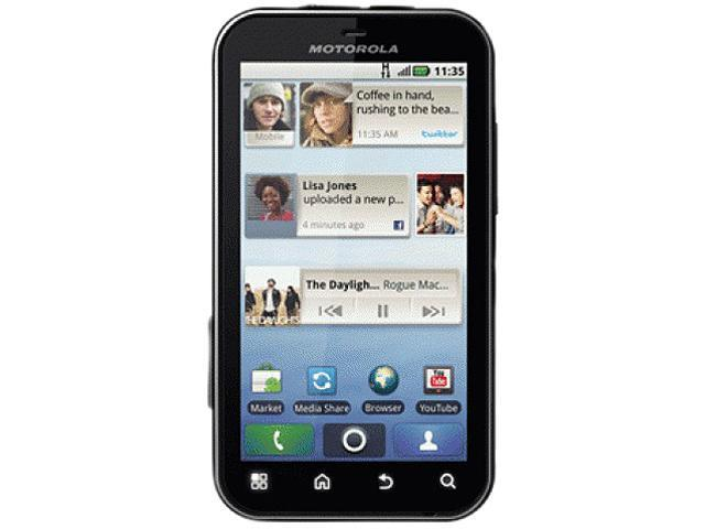 Motorola DEFY MB525 Black/Red 3G Unlocked Water-Resistant GSM Android Smart Phone w/ Android 2.1 / 5.0 MP Camera