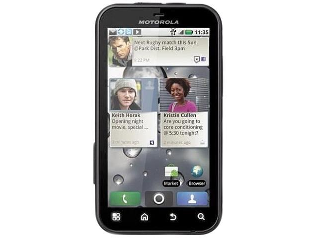 Motorola DEFY MB525 Black/White 3G Unlocked Water-Resistant GSM Android Smart Phone w/ Android 2.1 / 5.0 MP Camera