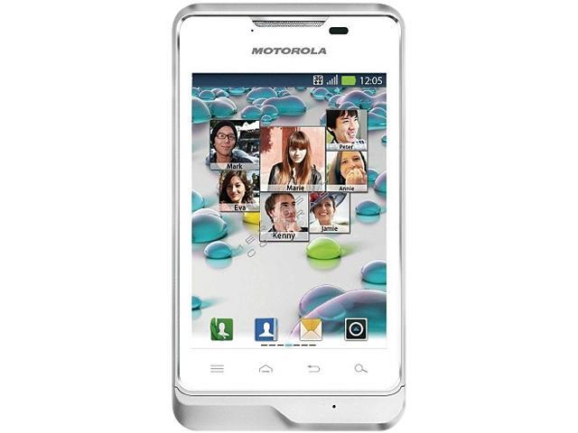 "Motorola Motoluxe XT389 Under 1GB Unlocked GSM Android Cell Phone 3.5"" White"