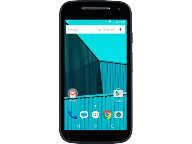 100% Free Mobile Phone Service w/ Moto E, 2nd Gen LTE, Black - FreedomPop