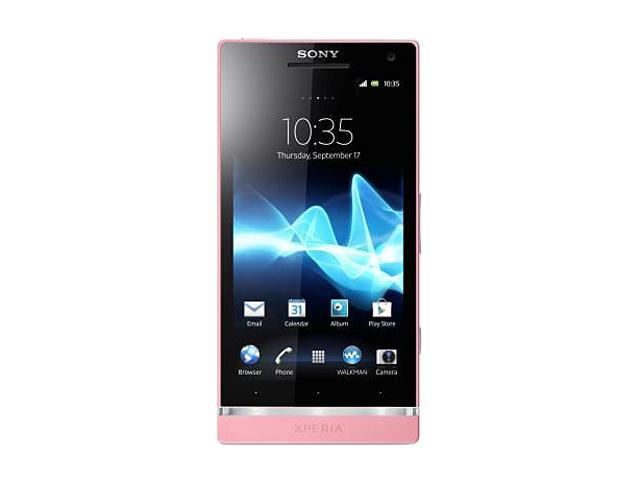 """Sony Xperia SL LT26II 32 GB (26 GB user-available), 1 GB RAM Unlocked Cell Phone 4.3"""" Pink"""