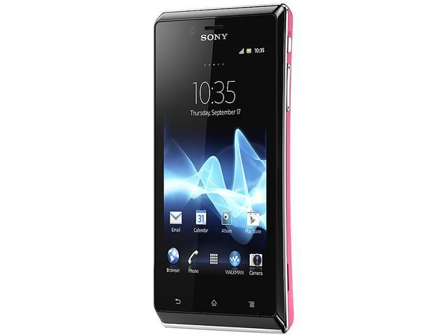 Sony Xperia J ST26a Pink 3G Touch Screen 5.0 MP Camera Unlocked GSM Smart Phone