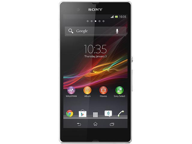 Sony Xperia Z C6602 HSPA+ White 4G Quad-Core 1.5GHz 16GB Unlocked Water Resistance Cell Phone U.S. Warranty