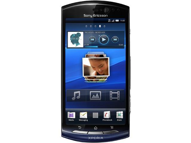 "Sony Ericsson Xperia Neo MT15I 320 MB storage, 512 MB RAM Unlocked GSM Android Cell Phone 3.7"" Blue"