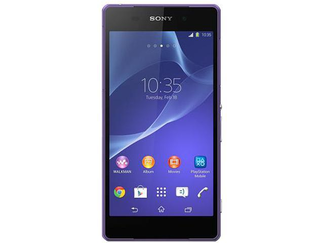 Sony Xperia Z2 LTE D6503 Purple 3G 4G LTE Unlocked Cell Phone