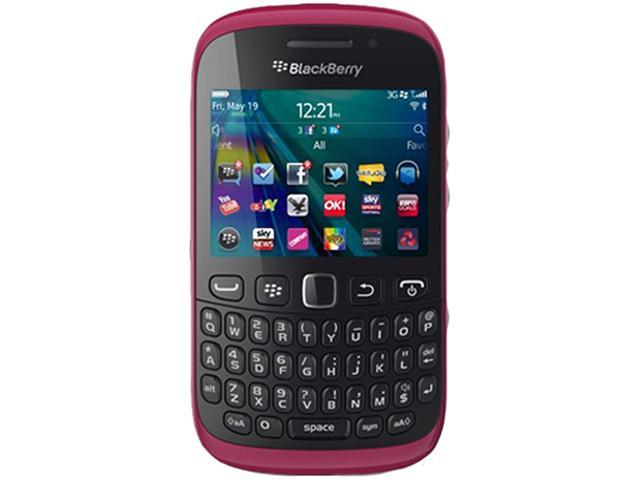"BlackBerry Curve 9320 512 MB ROM, 512 MB RAM Unlocked GSM OS 7 Cell Phone 2.44"" Pink"