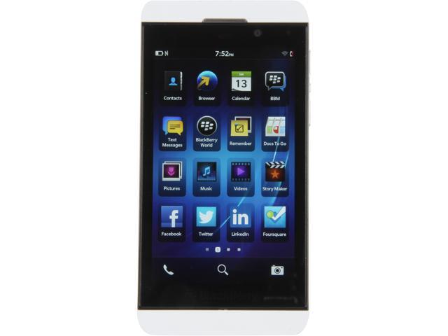 "BlackBerry Z10 STL100-3 16GB 4G LTE Unlocked GSM OS 10 Cell Phone 4.2"" 2GB RAM White"