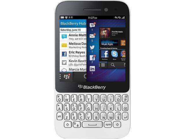 BlackBerry Q5 RFS121LW White 3G 4G LTE Unlocked Cell Phone