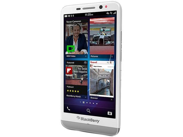 "BlackBerry Z30 16GB 4G LTE 16GB 4G LTE Unlocked GSM OS 10.2 Cell Phone 5"" 2GB RAM White"