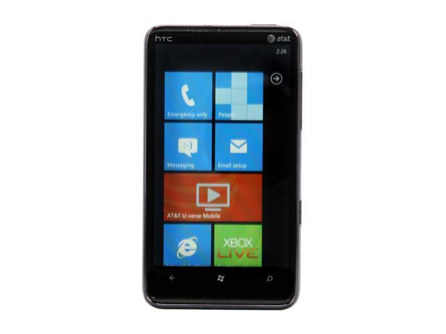 HTC HD7S Black 3G Unlocked GSM Smart Phone w/ Windows Phone 7 / 4.3