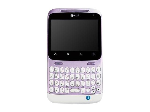 "HTC Status A810a 512 MB ROM, 512 MB RAM Unlocked GSM Smart Phone w/ Android OS 2.3 / 5 MP Camera / QWERTY Keyboard 2.6"" Mauve"