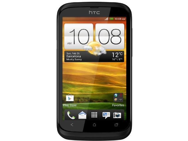 "HTC Desire V T328W 4 GB storage, 512 MB RAM Unlocked GSM Dual-SIM Android Cell Phone 4.0"" Black"