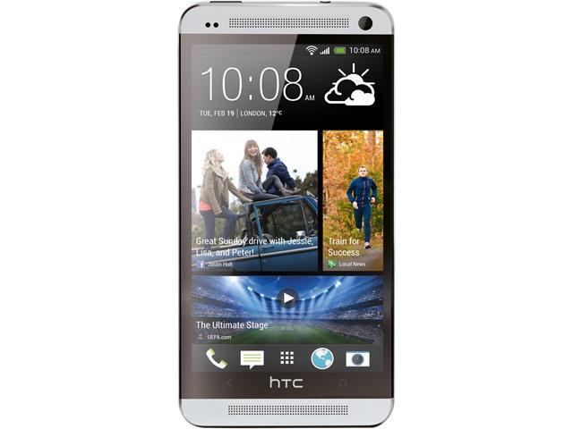 "HTC ONE 32GB 4G LTE Unlocked AT&T GSM Android Cell Phone w/ Beats Audio 4.7"" 2GB RAM Silver"