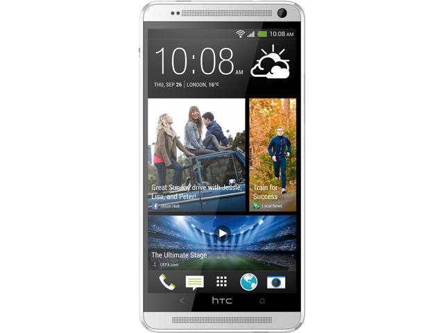 "HTC One Max 803S 32 GB, 2 GB RAM 32GB 4G LTE Unlocked GSM Android Cell Phone 5.9"" Silver"