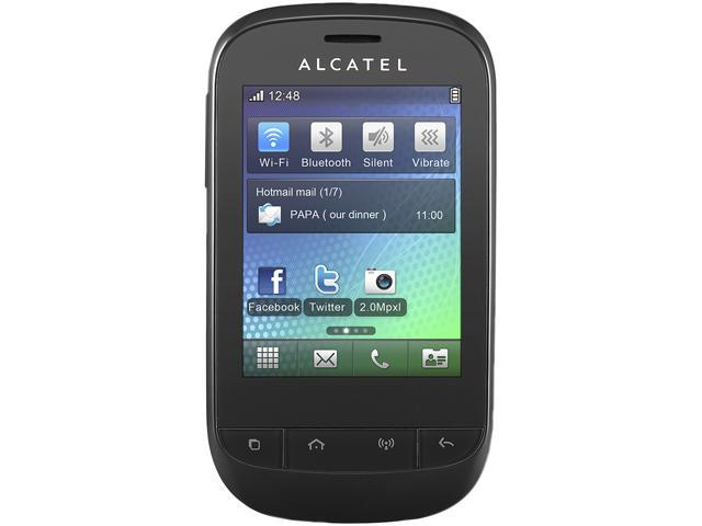 Alcatel OT-720D Black Unlocked Dual SIM Cell Phone
