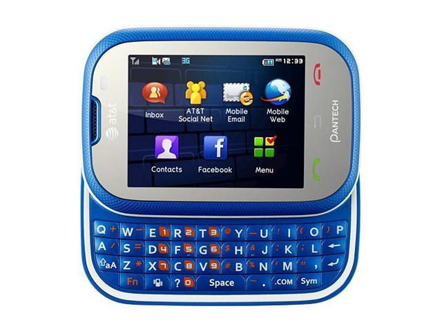 PANTECH Pursuit P9020 Blue Slider Touch Screen QWERTY Keyboard GPS 2.0 MP Camera Bluetooth Unlocked GSM Cell Phone