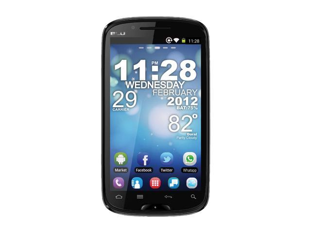 "Blu Studio 5.3 D510 512 MB ROM, 512 MB RAM Unlocked GSM Android Smart Phone with Dual SIM / Android 2.3 / WiFi 5.3"" Black"
