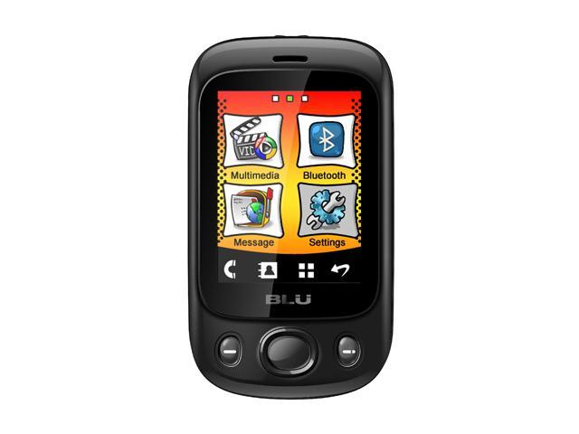 Blu Spark S130 Black Touch Screen MP3 Player FM Radio Camera Dual-SIM Unlocked GSM Cell Phone