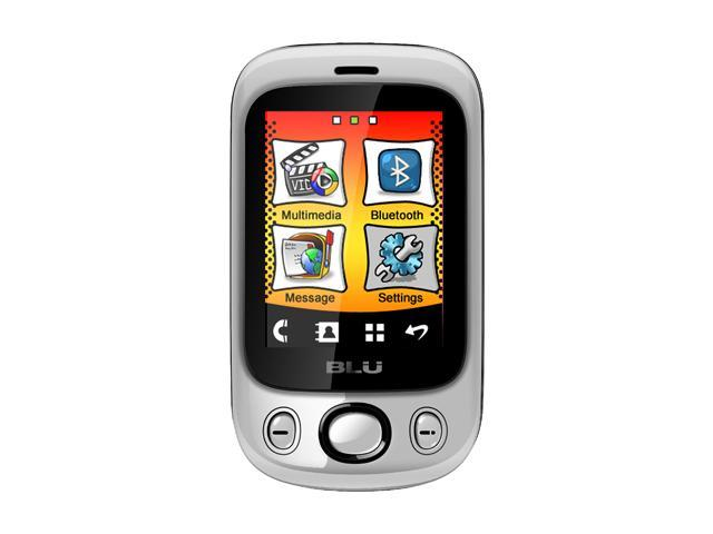 Blu Spark Silver Unlocked Dual SIM Cell Phone
