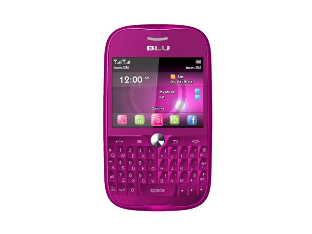 Blu Deco Pro Q360 Pink Touch Screen QWERTY Keyboard Wi-Fi 3.2 MP Camera Bluetooth Dual-SIM Unlocked GSM Cell Phone