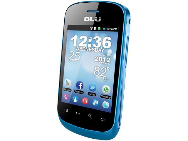 Blu Dash 3.2 D150a Blue 3G Unlocked Dual SIM Cell Phone