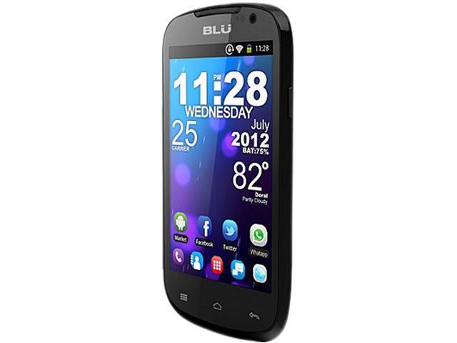 "Blu Dash 4.0 D270i 4 GB ROM, 512 MB RAM Unlocked Dual SIM Cell Phone 4.0"" Black"