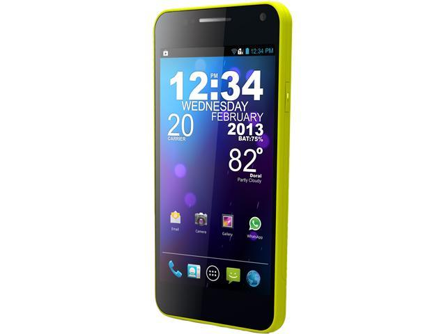 Blu Vivo 4.3 D910a Yellow 3G Unlocked Dual SIM Cell Phone