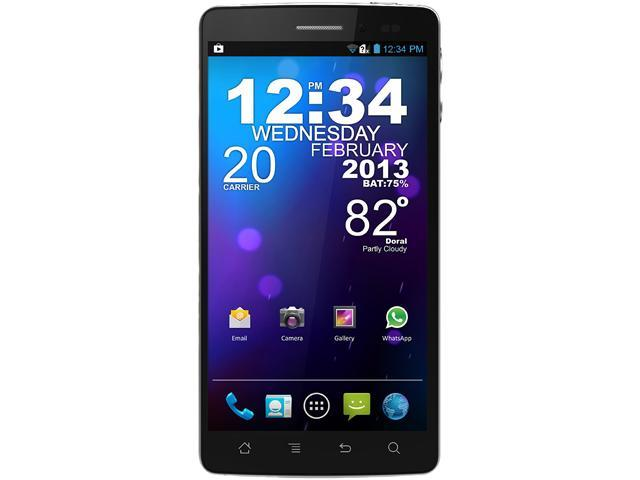 "Blu Quattro 5.7 HD D460 4GB, 1GB RAM Unlocked Cell Phone 5.7"" Black"