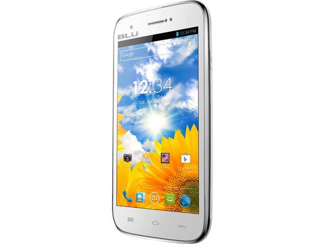 "Blu Studio 5.0 D530 4 GB ROM, 512 GB RAM Unlocked GSM Android Smart Phone 5"" White"