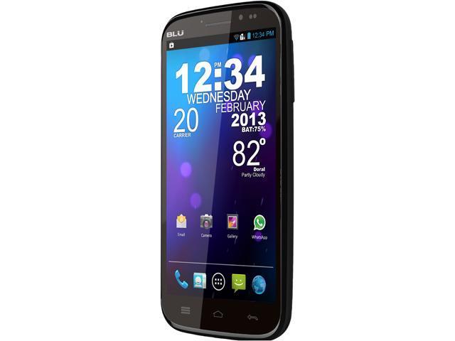 Blu Studio 5.3II D550a Black 3G Unlocked Dual SIM Cell Phone