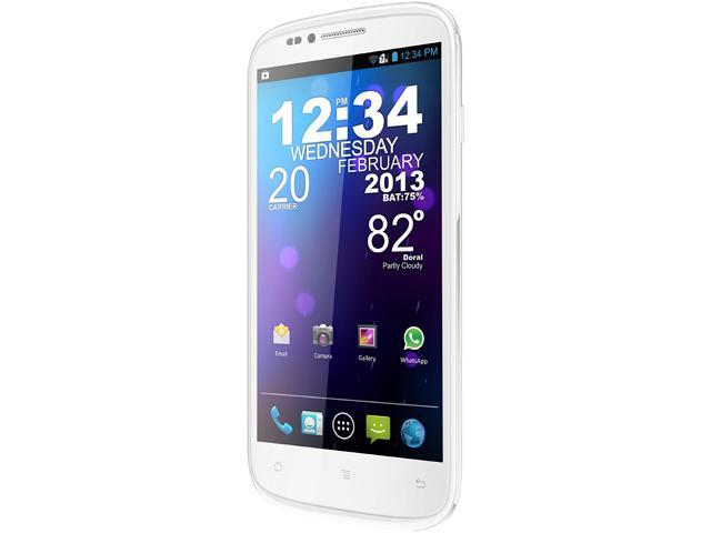 Blu Studio 5.3S D590a White 3G Unlocked Cell Phone