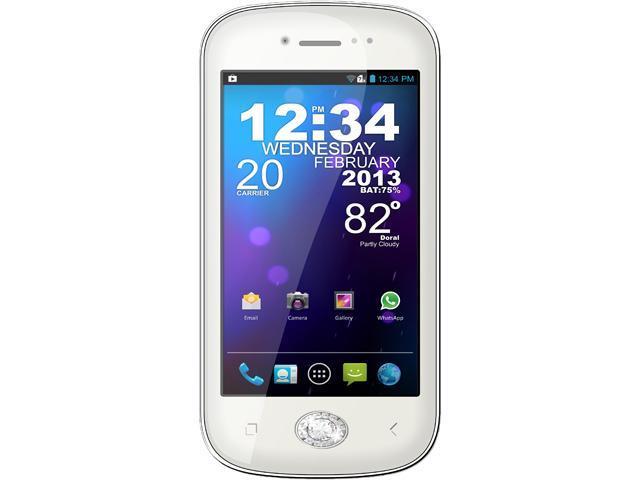 "Blu Amour D290a 4 GB, 512 MB RAM Dual SIM Unlocked Cell Phone w/ Swarovski Zirconia 4.0"" White"