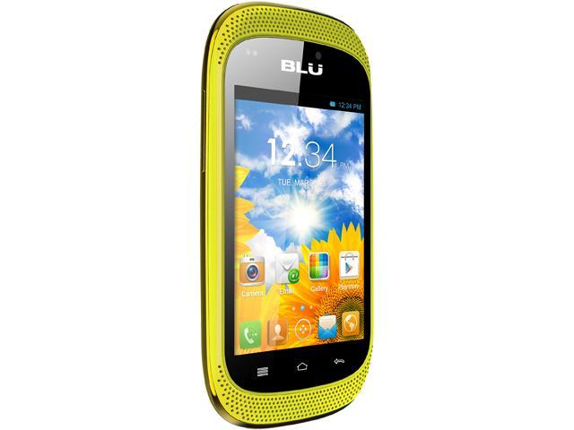 "Blu Dash Music D172A 512 MB ROM, 256 MB RAM Unlocked GSM Dual-SIM Android Cell Phone 3.5"" Yellow"