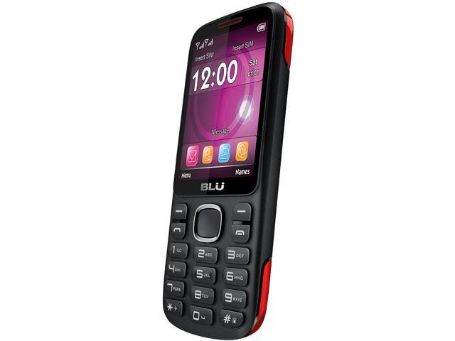 "Blu Jenny TV 2.8 T1762T Under 1GB Unlocked GSM Dual-SIM Cell Phone 2.8"" Black/Red"