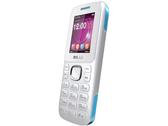 Blu Zoey T176 White/Blue Unlocked GSM Dual-SIM Cell Phone