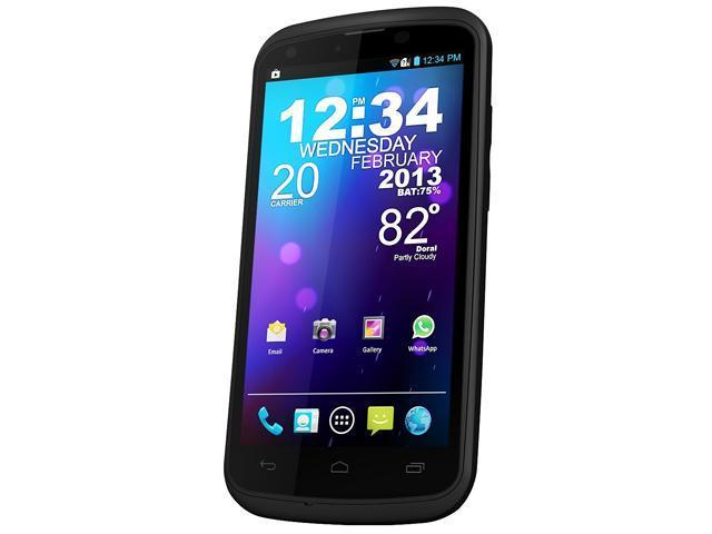 """Blu Tank 4.5 W110a 4GB ROM, 512 MB RAM Unlocked Dual SIM Cell Phone 4.5"""" Black"""