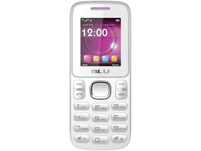 "Blu Zoey T176 32 MB ROM, 24 MB RAM Unlocked GSM Dual-SIM Cell Phone 1.8"" White/Pink"