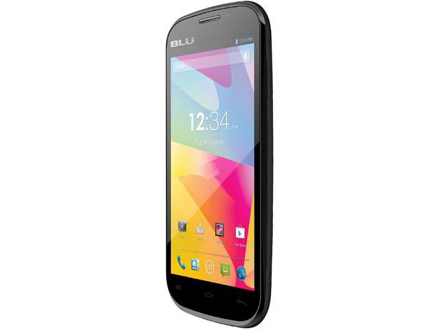 "Blu Studio 5.0 E D530e 4GB, 512 MB RAM Unlocked GSM Dual-SIM Android Cell Phone 5"" Black"