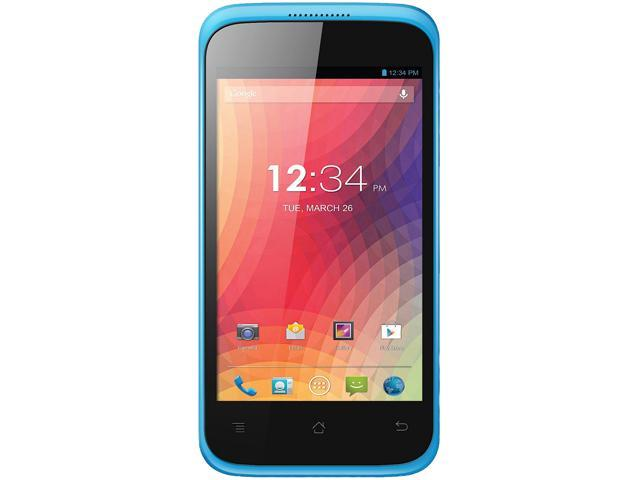 "Blu Star 4.0 S410a 4 GB ROM, 512 MB RAM Unlocked GSM Android Cell Phone 4.0"" Blue"