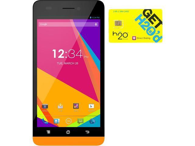 BLU Studio 5.0 LTE Y530Q Orange 4G LTE Quad-Core Android Phone + H2O $30 SIM Card