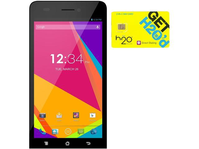 BLU Studio 5.0 LTE Y530Q White 4G LTE Quad-Core Android Phone + H2O $50 SIM Card