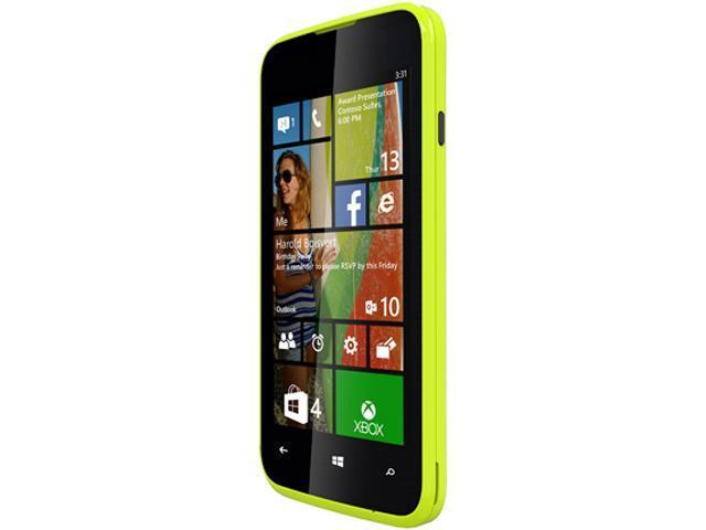 Blu Win JR W410u Yellow 3G Quad-Core 1.2GHz Unlocked GSM Windows 8.1 4G HSPA+ Phone