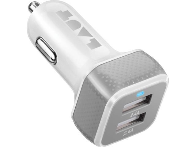 LAUT LAUT_PD04_W Powerdash 9.6 White 4 Port USB Car Charger