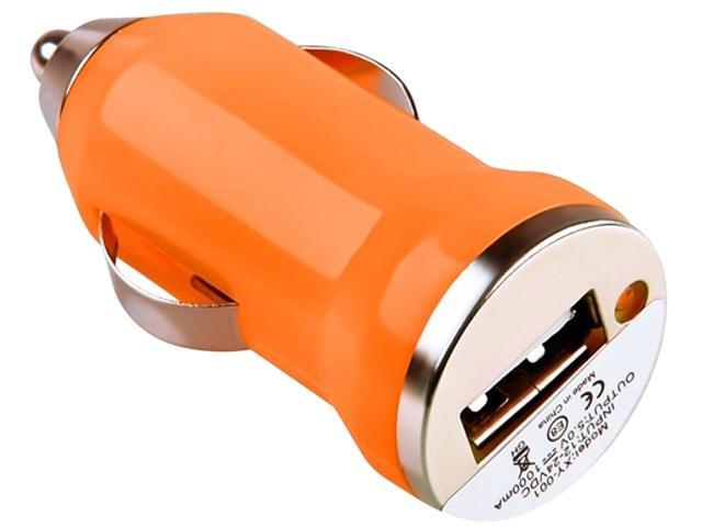 Insten 1475291 Orange Universal USB Mini Car Charger Adapter