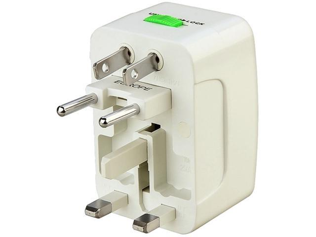 Insten 1848131 White Universal World Wide Travel Charger Adapter Plug