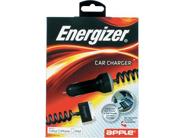Energizer ENG-CCIPDB Black Car Charger - Box Package MFI