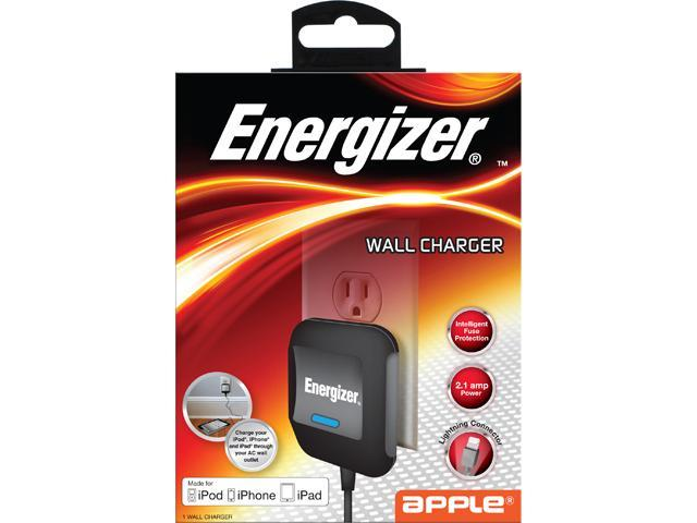 Energizer ENG-WCLCB Black 2.1A Apple Lightning Withall Charger MFI