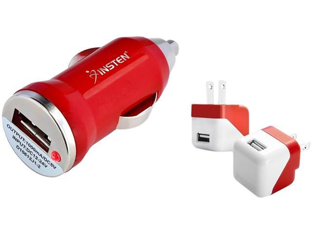 Insten 1928156 USB Mini Travel Charger + USB Mini Car Charger Adapter For Apple iPhone 6