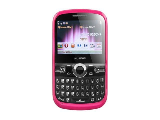 Huawei G6620 Pink Unlocked GSM Dual SIM Cell Phone