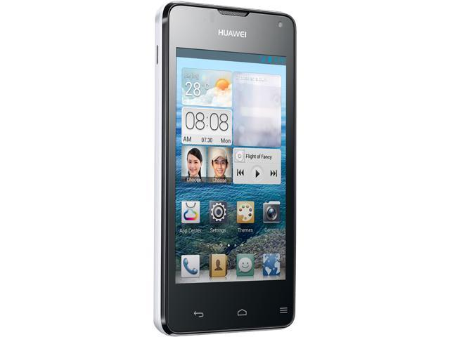 "Huawei Ascend Y300 4 GB, 512 MB RAM Unlocked Cell Phone 4.0"" White"
